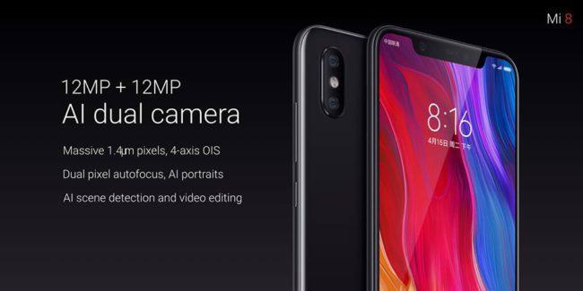 En cuantoa la grabación de video, la cámara muestra un enfoque automático muy rápido, un amplio rango dinámico, un gran seguimiento de enfoque y bajo nivel de ruido. El Xiaomi Mi 8 cuenta con una configuración de cámara doble con resoluciones de 12 MP, f / 1.8 y f / 2.4 aperturas.