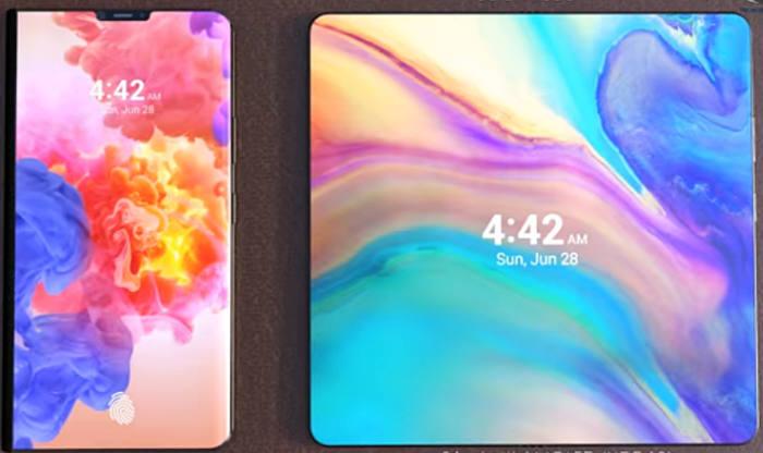 pantalla del teléfono plegable 5G Huawei