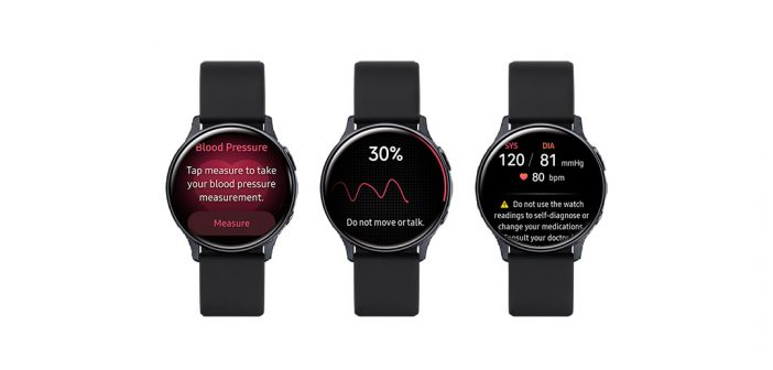 Galaxy Watch Active 2 El último reloj inteligente de Samsung ahora es capaz de medir la presión arterial