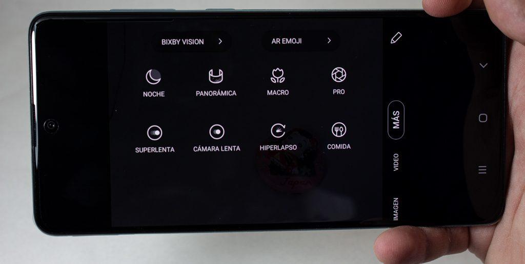 Galaxy A71 app cámara