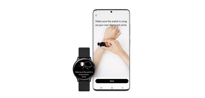 galaxy watch active 2 presión arterial