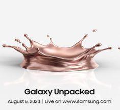 Es oficial: Samsung confirma el próximo Unpacked 2020 para el día 5 de agosto