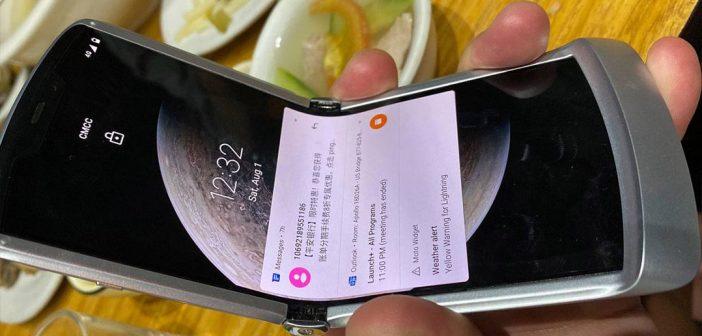Motorola Razr 2020 se deja ver en fotografías reales