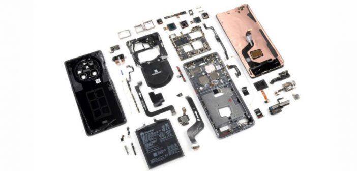 Huawei Mate 40 Pro es difícil de reparar, según un desmontaje total de iFiXiT