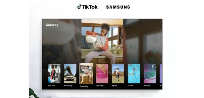 Tik Tok presenta su aplicación para televisores Samsung