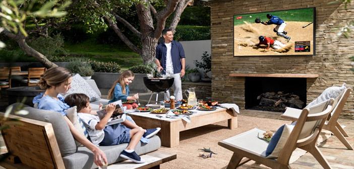 smart tv en la terraza