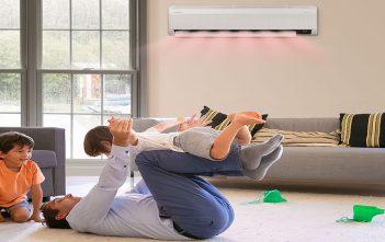 Calefacción con aire acondicionado ahorro de energía y aire más puro