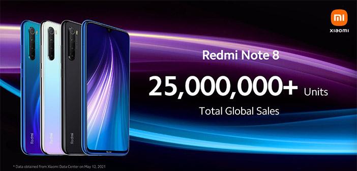 xiaomi 25 millones de redmi note 8 vendidos