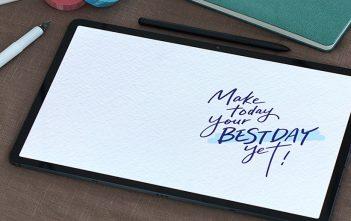 Trucos de caligrafía en un Tablet Crea tus propios saludos personalizados y fondos de pantalla
