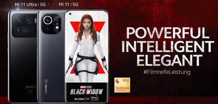 Xiaomi anuncia el MI 11 con escenas de Black Widow, mira el resultado