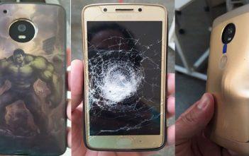 Un Moto G5 salva a su dueño de recibir un impacto de bala