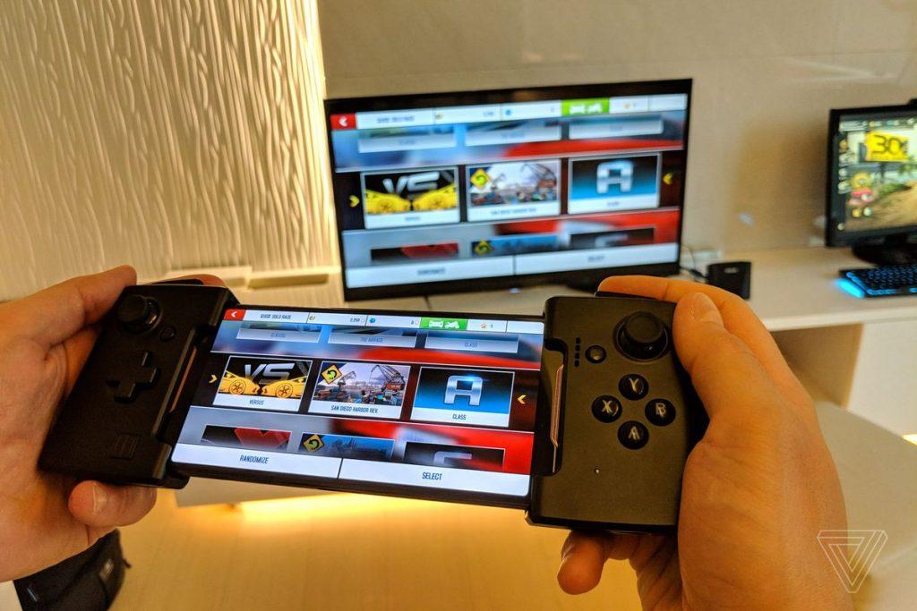 WiGig Dock: un puerto 802.11ad de 60 GHz que funciona con el gamepad Game Game y te permite transmitir a un televisor.