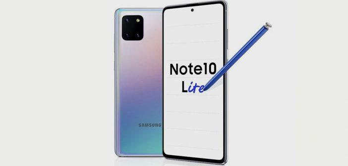 Galaxy Note 10 Lite recibe actualización de seguridad de febrero 2021
